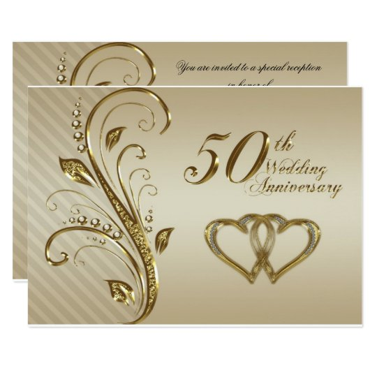 50th Wedding Anniversary RSVP Card  Zazzlecom