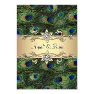 Emerald Green Rosette Wedding Invitation
