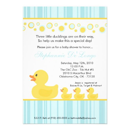 Most Por Triplets Baby Invitations Custominvitations4u Com