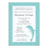 5x7 Tropical Ocean Dolphin Baby Shower Invitation