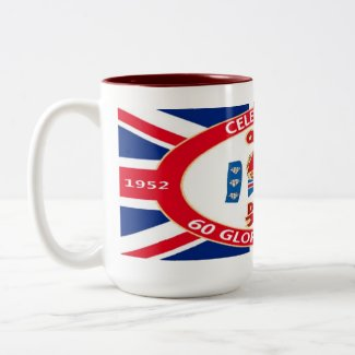 60 Years Diamond Jubilee Celebratory Mugs