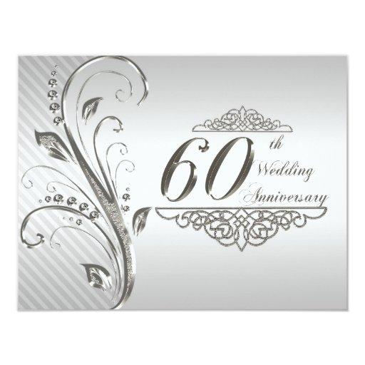 60th Wedding Anniversary Invitation Card  Zazzle
