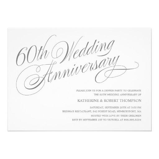 60th Wedding Anniversary Invitations 5