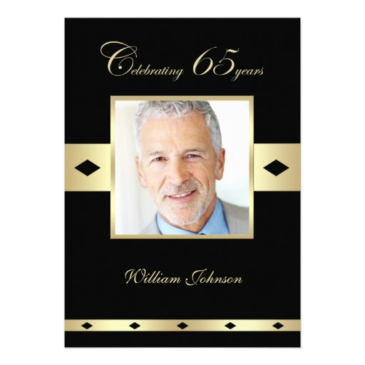 personalized 65th birthday invitations custominvitations4u com
