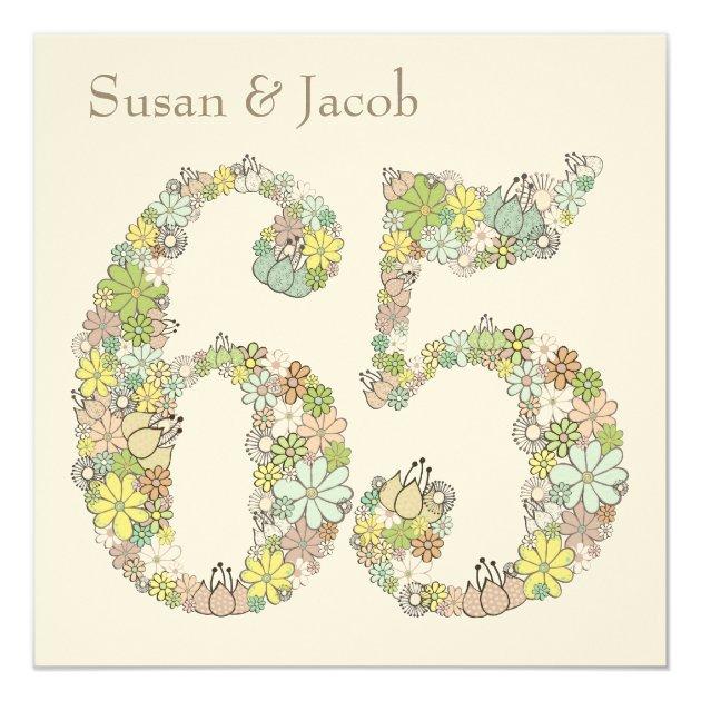 65th Wedding Anniversary Custom Invitation
