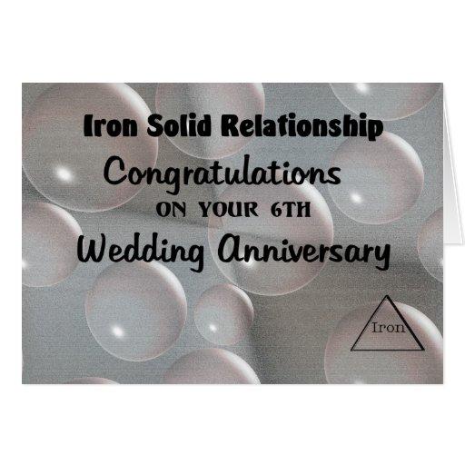 6th Wedding Anniversary Greeting Card  Zazzle