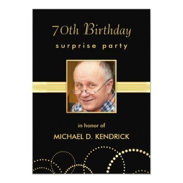 70th Birthday Adult Milestone -  Photo Optional Invitation