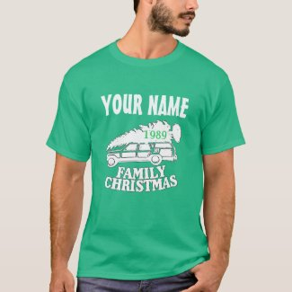 80's Family Christmas Tree T-shirt