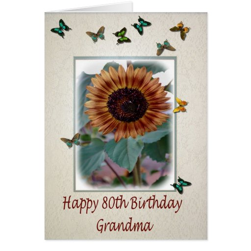 80th Birthday Card For Grandma Zazzle
