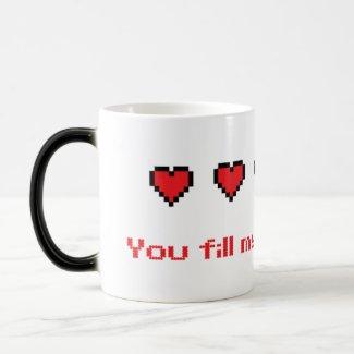 8-bit Heart Mug mug