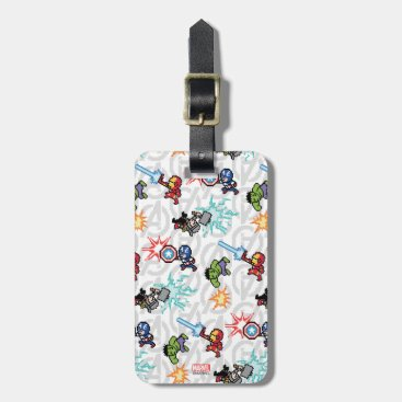 8Bit Avengers Attack Luggage Tag