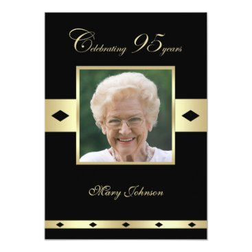 95th Birthday Party Invitation Photo 95th
