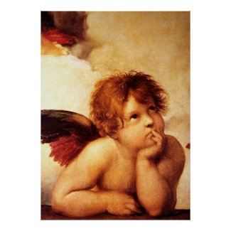 A Cherub, Detail of the Sistine Madonna - Raphael Poster