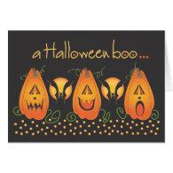 A Halloween Boo Jack O' Lantern Lineup Card
