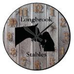 A Horses Love 3 Customizable Barnwood Styled Large Clock