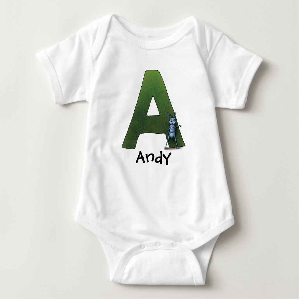 A is for Andy Baby Bodysuit