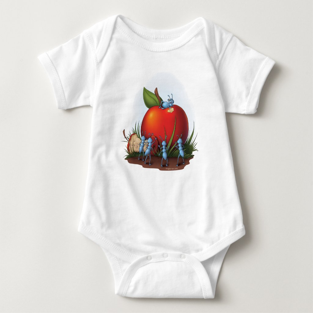 A is for Apple and Ants Baby Bodysuit