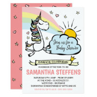 A Magic Celebration Unicorn Baby Shower Invitation