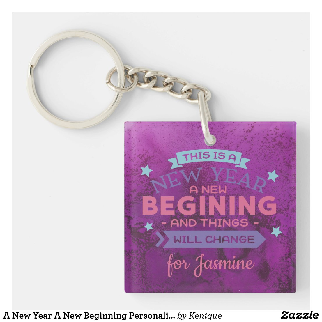 A New Year A New Beginning Keychain
