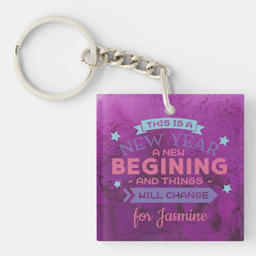 A New Year A New Beginning Keychain