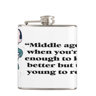 A perfect description of middle age hip flask
