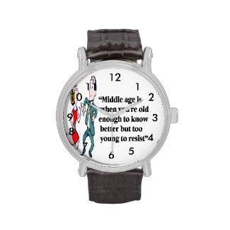 A perfect description of middle age wristwatch