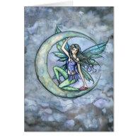 A Piece of Moon Fairy Fantasy Art Card