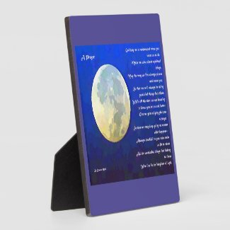 A Prayer Poem Photo Plaque