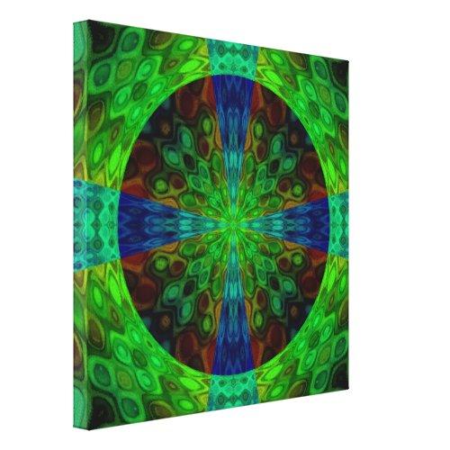 A Random Act of Art Canvas Print - abstract green wall art