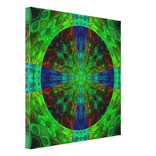 ... A Random Act Of Art Canvas Print   Abstract Green Wall Art