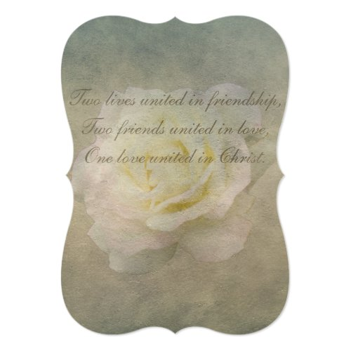 A Vintage Rose Romance Wedding 5x7 Paper Invitation Card