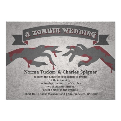 A Zombie Wedding Invitation