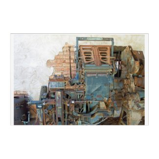 Abandoned Linotype Machine found in South Arizona Acrylic Wall Art