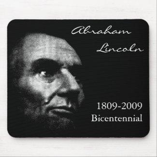 Abe Lincoln - Elegant White on Black mousepad