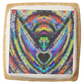 Abstract Angel Art Square Sugar Cookie