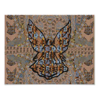 Abstract Angel Pattern Art Poster