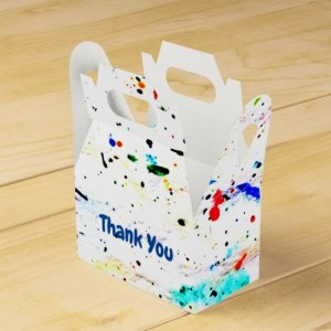 Abstract Art Paint Splashes and Spots Favor Box