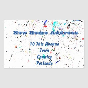Abstract Art Paint Splashes and Spots Rectangular Sticker