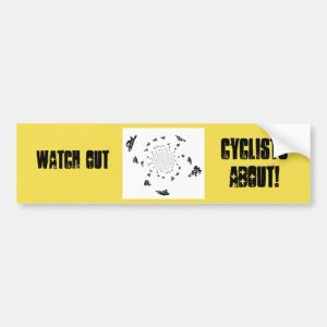 Abstract Bicycle Race Art Bumper Sticker