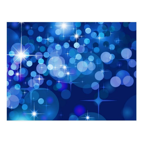 Abstract Bokeh Stars Background ROYAL BLUE CIRCLES