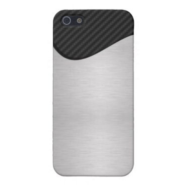 Abstract Carbon Fiber / Steel iPhone SE/5/5s Cover
