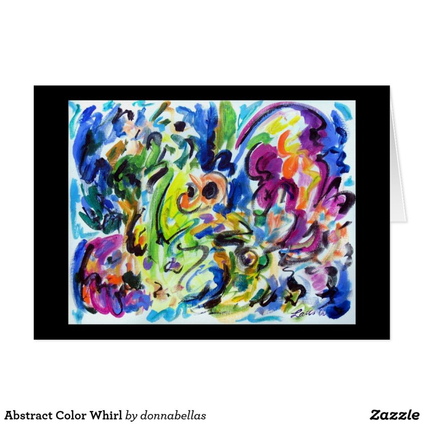 Abstract Color Whirl Card