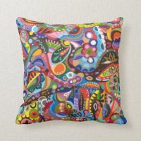 Abstract Colorful Pillow | Zazzle