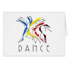 Abstract Dancers Dancing - Dance Lover Artwork Card