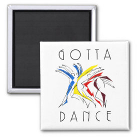 Abstract Dancers Dancing - Dance Lover Artwork Magnet