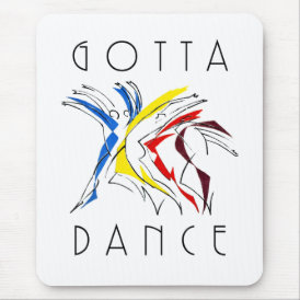 Abstract Dancers Dancing - Dance Lover Artwork Mouse Pad