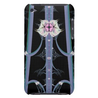 Abstract Flowers Stalks With Lace iPod Touch Case-Mate Case