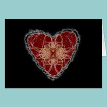 Abstract Heart Valentine Love cards