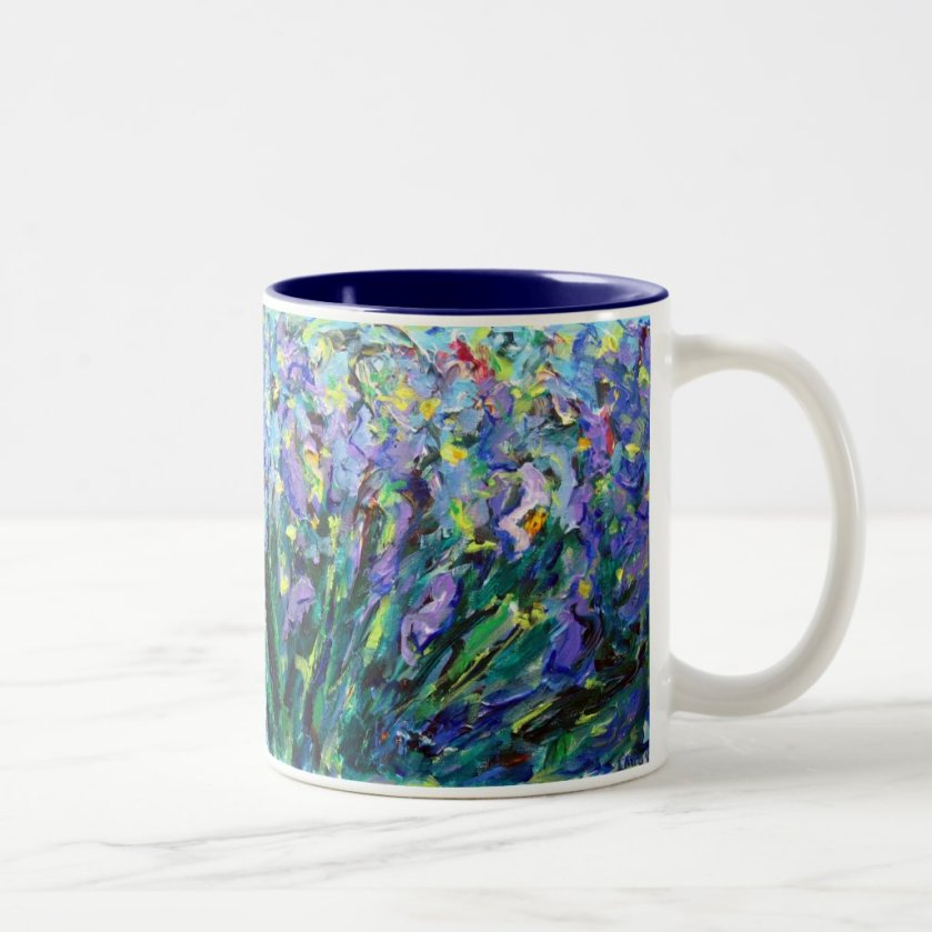 Abstract Irises Mug