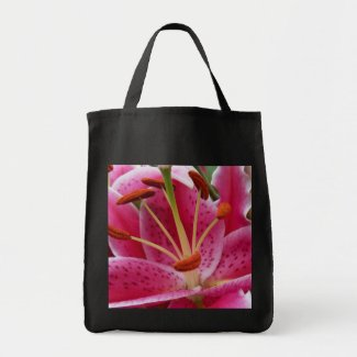 Abstract Pink Lily Bag